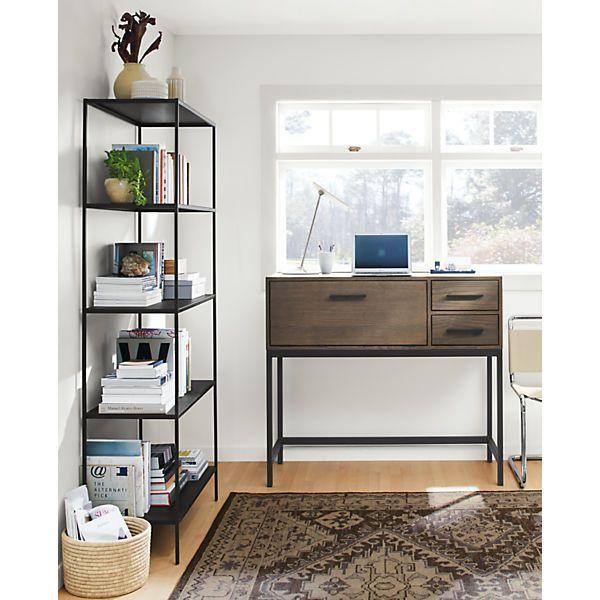 Alden Modern Office Armoire   Modern Desks U0026 Tables   Modern Office  Furniture   Room U0026