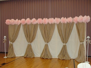 Something like this, minus pink crap at top!! For behind head table