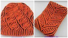 Шапка и шарф в технике бриошь. Вязание на спицах