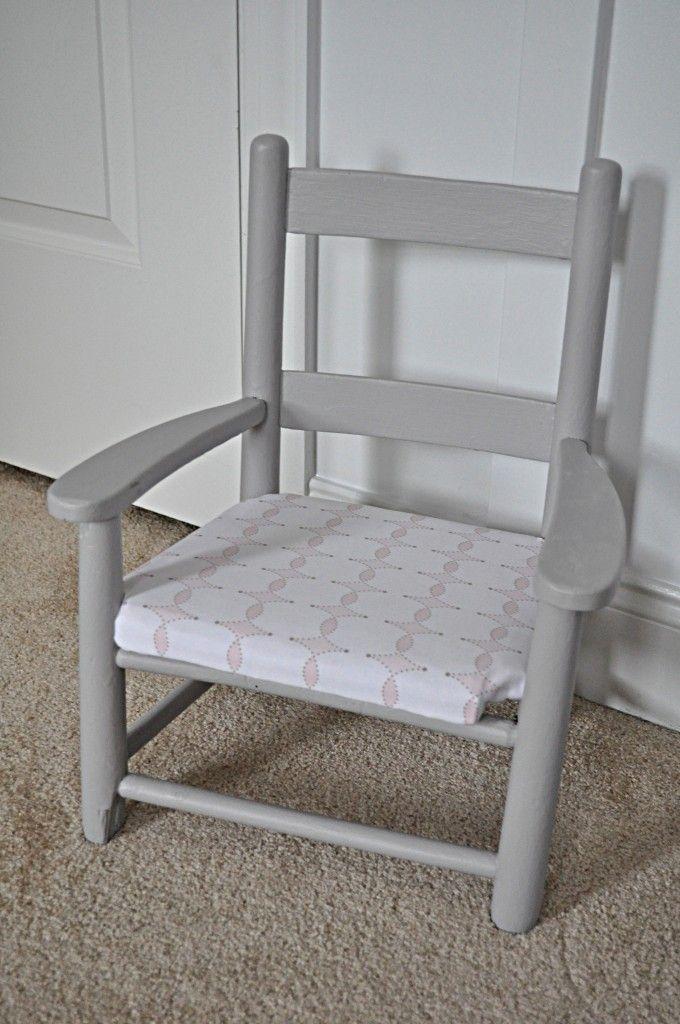 Project Nursery - Gray Kids Wooden Chair