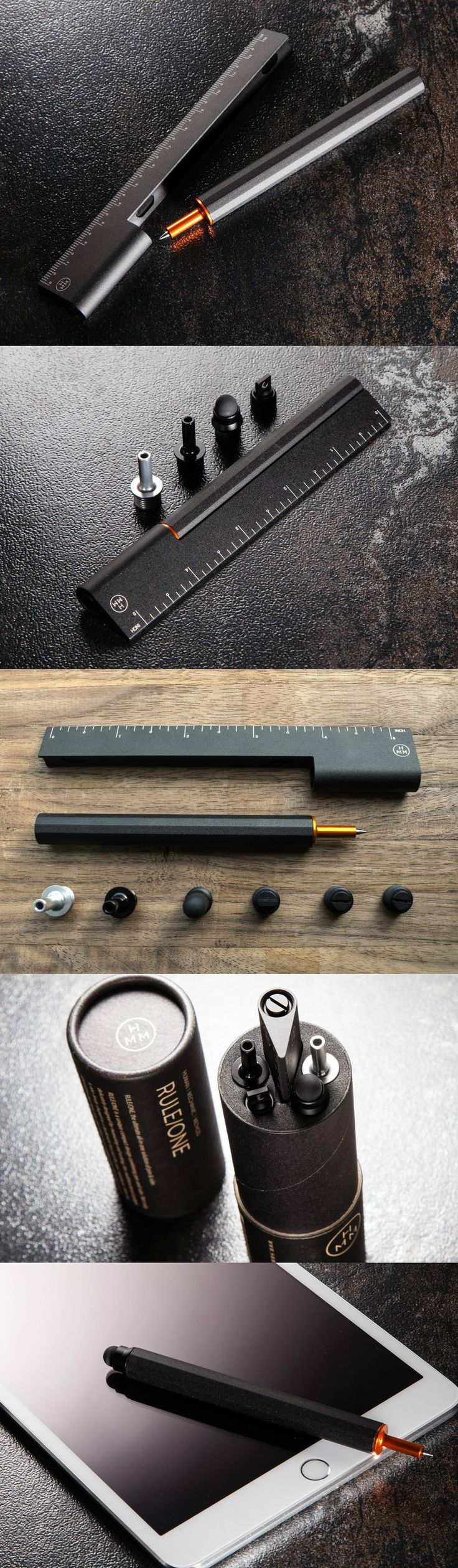 The RULE/ONE by HMM Project combines the ruler and the pen in a package that makes them look like they're meant for each other. Read more at Yanko Design