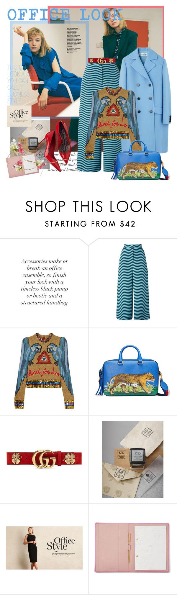 """""""OFFICE LOOK"""" by mariapia65 ❤ liked on Polyvore featuring Fendi, Gucci, Three Designing Women, StudioSarah and officelook"""