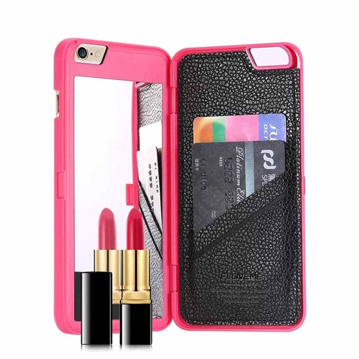 Mirror Back Wallet Case For iPhone  & FREE Shipping Worldwide //$14.5    #appleiphone #electronics
