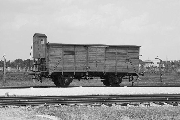 AuschwitzII-Birkenau Cart. Vagão de Trem de Carga, onde os prisioneiros eram transportados para os Campos.