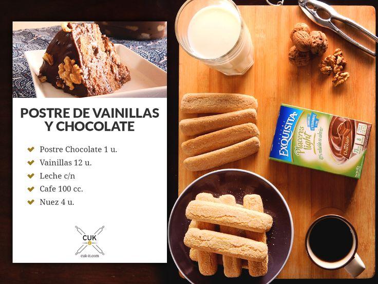 POSTRE DE VAINILLAS Y CHOCOLATE
