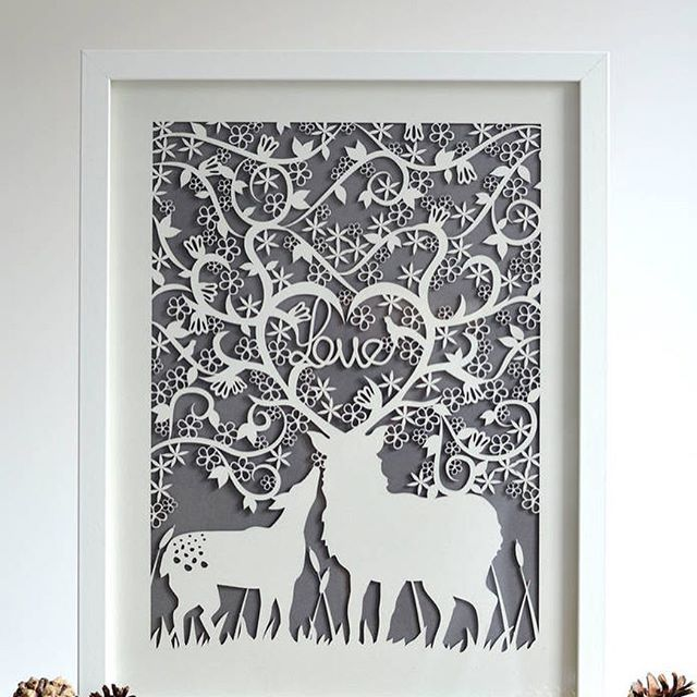 One of many prints that are available from tomorrow's Country Living Christmas Fair! Pop along to the SECC, Glasgow and say hello ☺️ #doe #deer #fawn #stag #woodlands #wildlife #bambi #papercut #etsy #etsyuk #etsyseller #etsyshop #handmade #madewithlove #craftsposure #cylcollective #scandanaviandesign #minimaldesign #interiordesign #graphicdesign #illustration #madeinscotland #madeinglasgow #notonthehighstreet  #NOTHS #homedecor #lasercut #love #clxmasfair