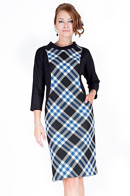 Платье с фигурными вставками Опен-506 - интернет-магазин Moda-nsk