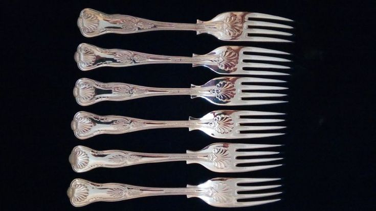 Lovely Set Six Kings Pattern EPNS A1  Dessert Forks Sheffield England VGC