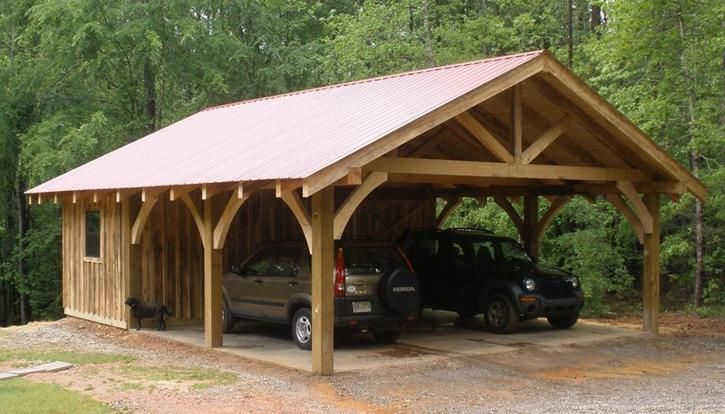 25 best ideas about pole barn plans on pinterest for Carport with storage shed plans