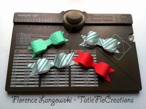 ▶ Créer des noeuds en papier avec l'Insta'Enveloppe de Stampin'Up! - YouTube