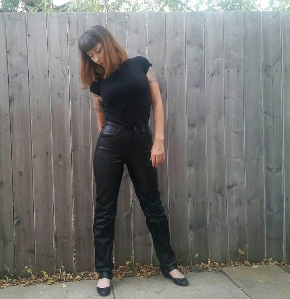 Check out this item in my Etsy shop https://www.etsy.com/listing/561516981/vintage-1980s-high-waisted-black-leather
