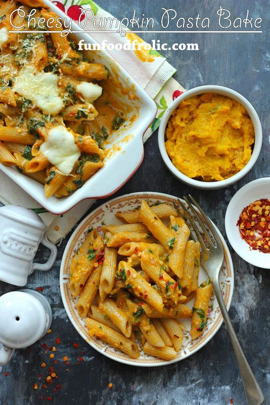 This One-Pot Cheesy Pumpkin Pasta is perfect for the fall season. It has a beautiful orange color that just blends with the mood of the season. funfoodfrolic.com