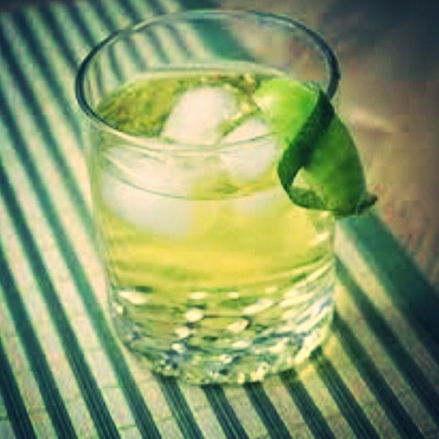 .5 oz Jameson Irish Whiskey, 1 dash Homemade So...Green Tea