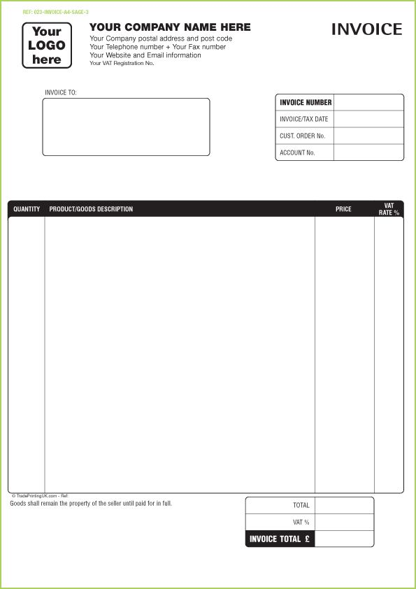 doc.#513666: invoice forms template – free invoice template for, Invoice examples