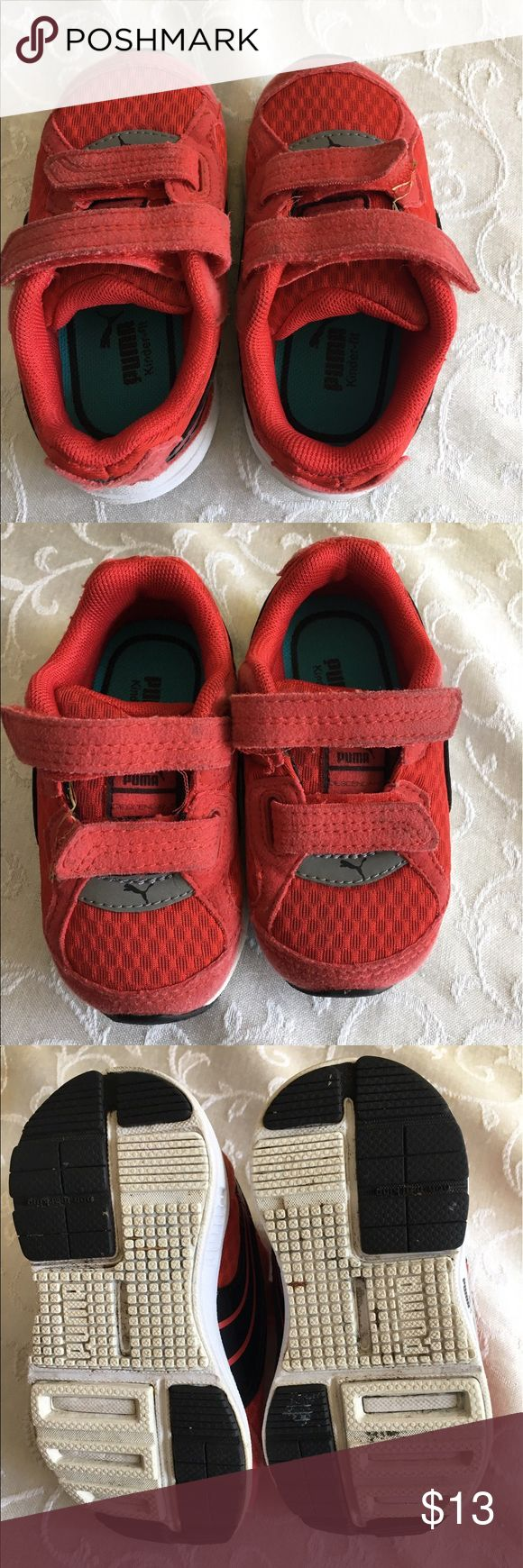 Puma kids red sneakers Puma kids red sneakers with double Velcro closure Puma Shoes Sneakers