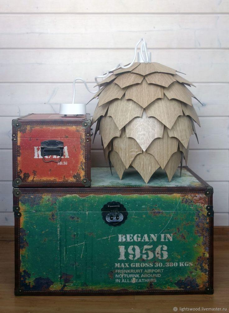 Купить Деревянный светильник ШИШКА КОЛЮЧКА в интернет магазине на Ярмарке Мастеров