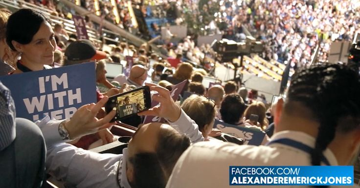"""VIDEO: DNC HANDS OUT HILLARY SIGNS TO PRESS Mainstream reporters proudly wave """"I'm With Her"""" banners at DNC"""