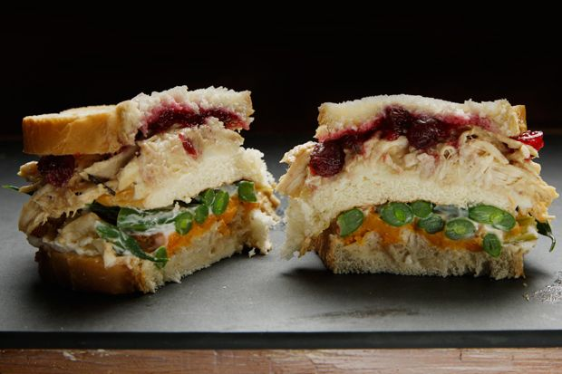 Thanksgiving Leftovers Club Sandwich Recipe - CHOW