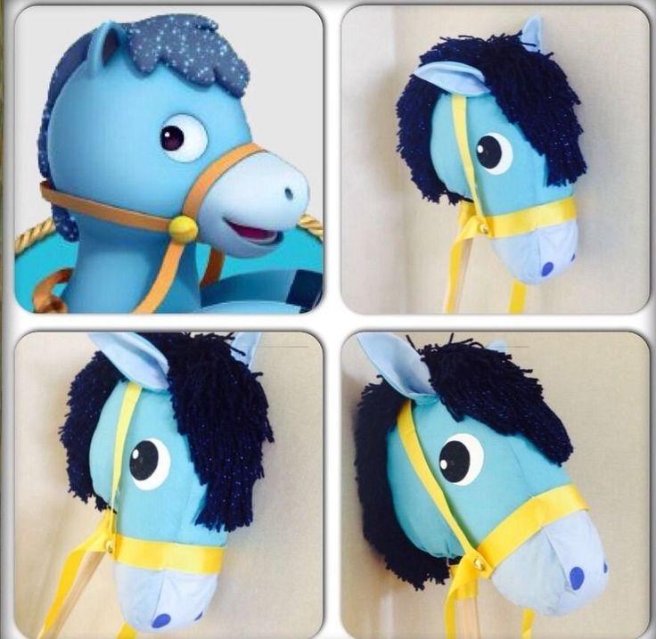 Handmade Hobby Horse Sparky Inspired Be Like Sheriff Callie