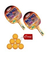 2 GKI Kung FU TT bats with 6 TT ball Shield free!  http://www.snapdeal.com/product/sports-hobbies-table-tennis/2GKIKungFU-97682?pos=47;53