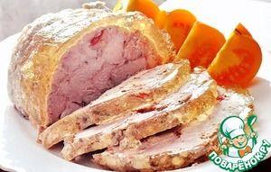 Ветчина свиная с чесноком - кулинарный рецепт