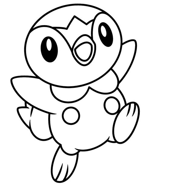 cute pokemon coloring pages | 17 Best images about Piplup on Pinterest | Watercolors, It ...