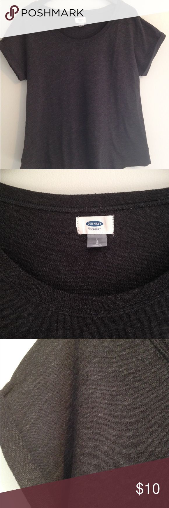 Old Navy Short Sleeved Top Charcoal Gray Old Navy top, excellent condition,. Old Navy Tops Tees - Short Sleeve