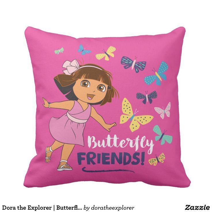 Dora the Explorer   Butterfly Friends. Producto disponible en tienda Zazzle. Decoración para el hogar. Product available in Zazzle store. Home decoration. Regalos, Gifts. #cojín #pillows