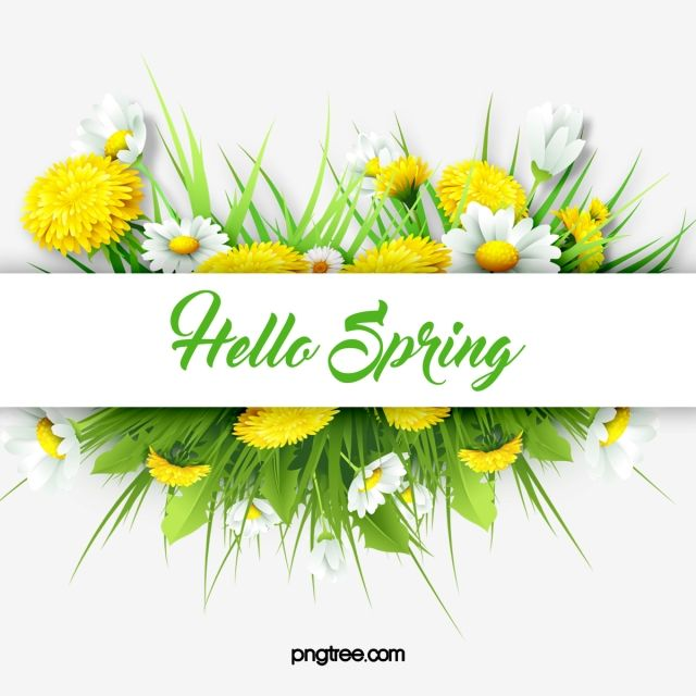 Green Spring Flower Border Leaf Flower Yellow Flower Png Transparent Clipart Image And Psd File For Free Download Flower Border Spring Flowers Background Spring Flowers