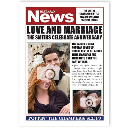 Greeting Cards that can be personalized by using a magazine/newspaper layout and your own photos, messages!!! http://www.quickclickcards.com/newspapers-magazines/