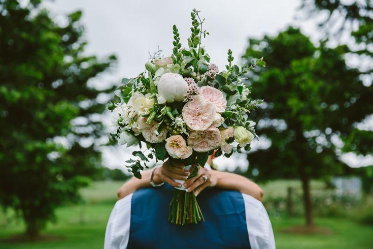 Wedding bouquet peonies + roses. Image: Cavanagh Photography http://cavanaghphotography.com.au