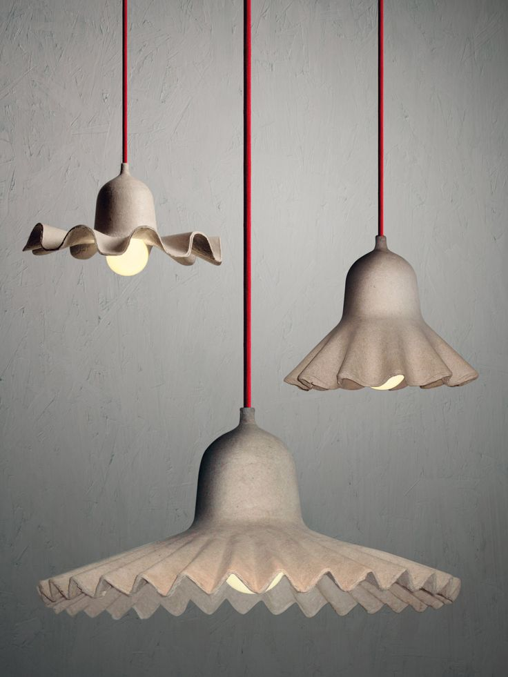 Egg of Columbus Pendant - Recycled cardboard - Ø 26,5 cm by Seletti  Brand: Seletti Color : Grey-beige Material : Recycled cardboard Characteristics : Bulb : 1x40W E27 (not provided) - 230V - IP 20