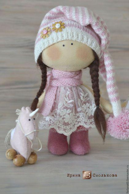 Коллекционные куклы ручной работы. текстильная куколка-малышка. Ирина Смолькова. Ярмарка Мастеров. Кукла интерьерная, авторская кукла