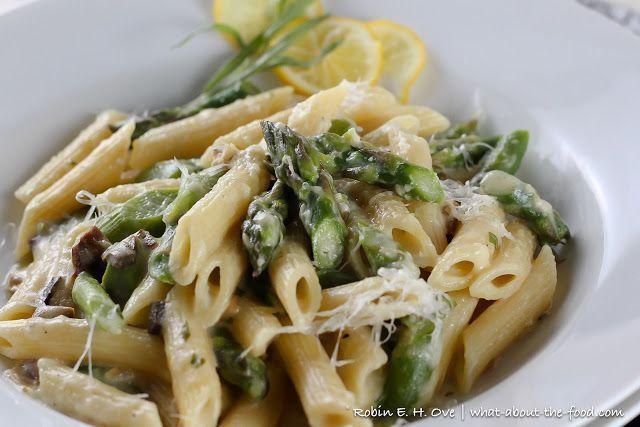 Lemon Truffle Pasta with Asparagus and Porcini Mushrooms