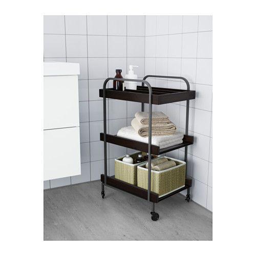 HJÄLMAREN Trolley, black-brown black-brown 48x36 cm