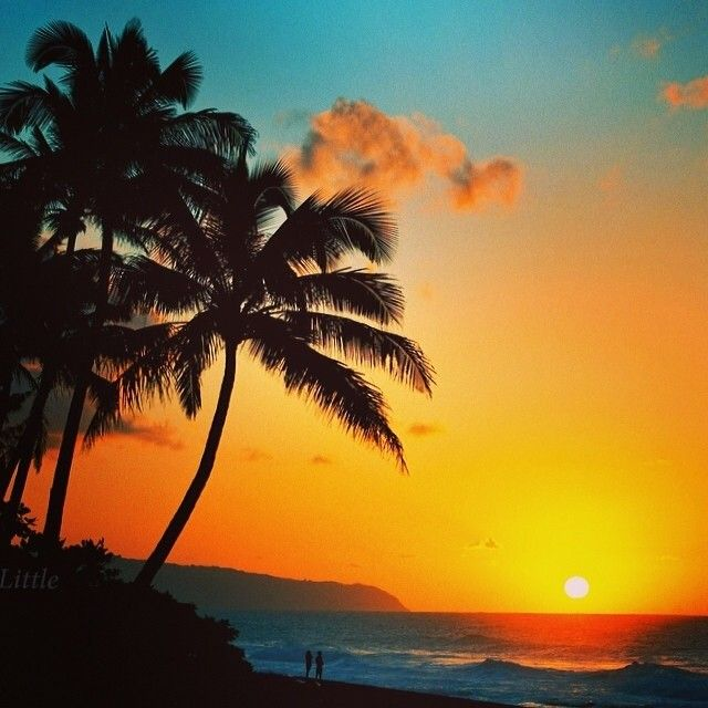Beautiful Oahu Sunset, Hawaii