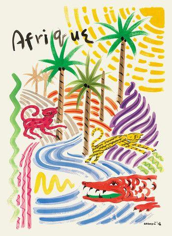 Afrique - Kazumi Yoshida - Tiger Flower Studio