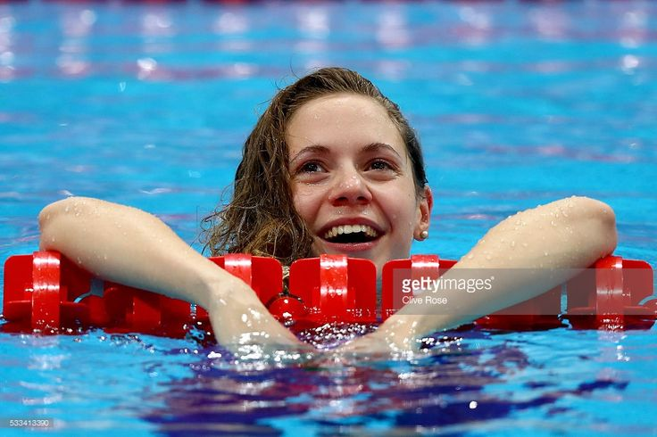 Boglarka Kapas of Hungary celebrates after winning the Women's 50m Breaststroke Final on day fourteen of the 33rd LEN European Swimming Championships 2016 at Aquatics Centre on May 22, 2016 in London, England.