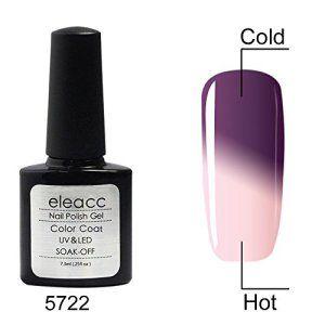 Eleacc® GEL UV Vernis Changé Couleur avec Changement Température Caméléon Série Nail Art Semi Permanente 7.3ml Multicolore