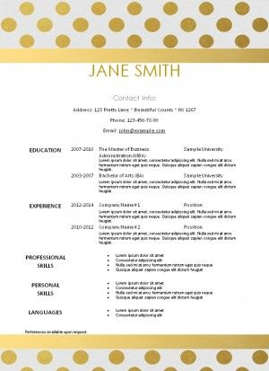free printable resume template that can be edited instant download - Printable Resume Template
