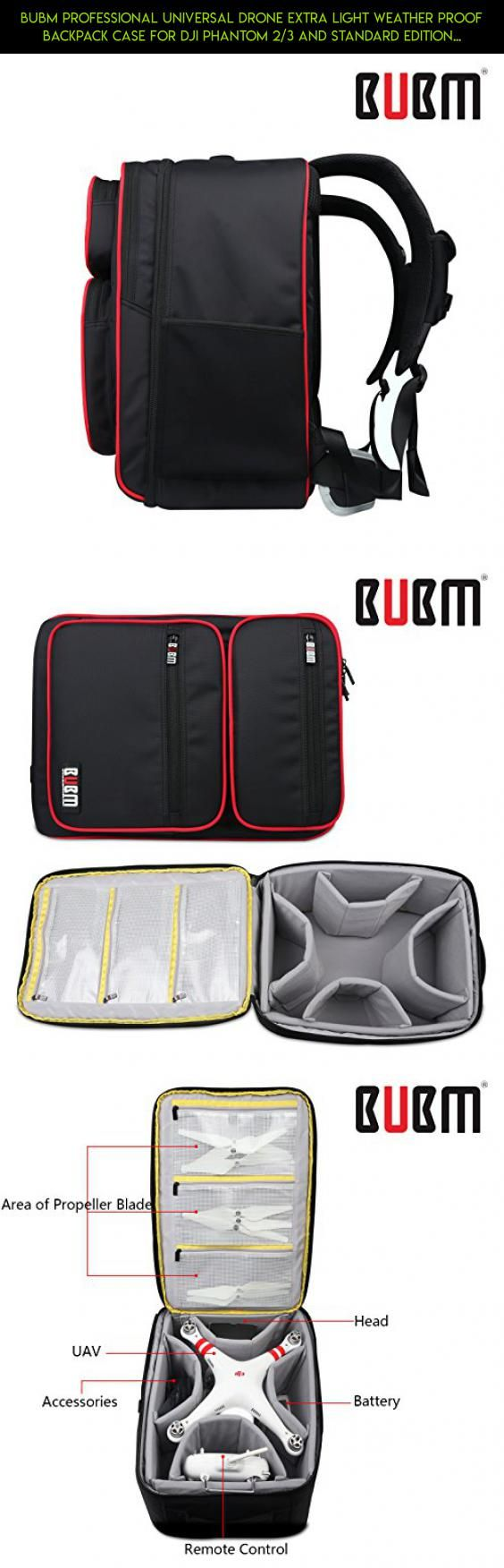 BUBM Professional Universal Drone Extra Light Weather Proof Backpack Case For DJI Phantom 2/3 and Standard Edition Drone's + Accessories and Tablets,Romote Control,Battery,Propeller blade #camera #3 #plans #phantom #drone #dji #shopping #tech #gadgets #products #racing #parts #technology #edition #kit #standard #fpv