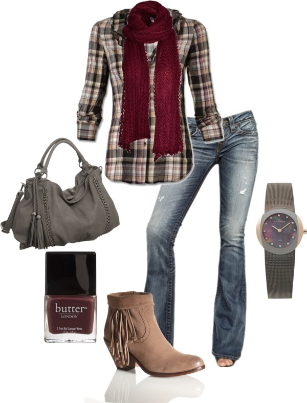 """""""A Little Fringe"""" by jlucke on Polyvore. Love it, but different shoes."""