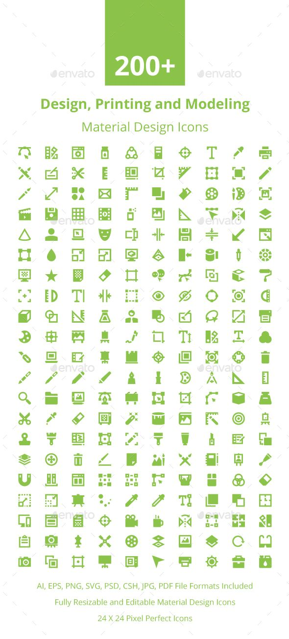 200+ Material Design Icons. Download here: https://graphicriver.net/item/200-material-design-icons/17673908?ref=ksioks