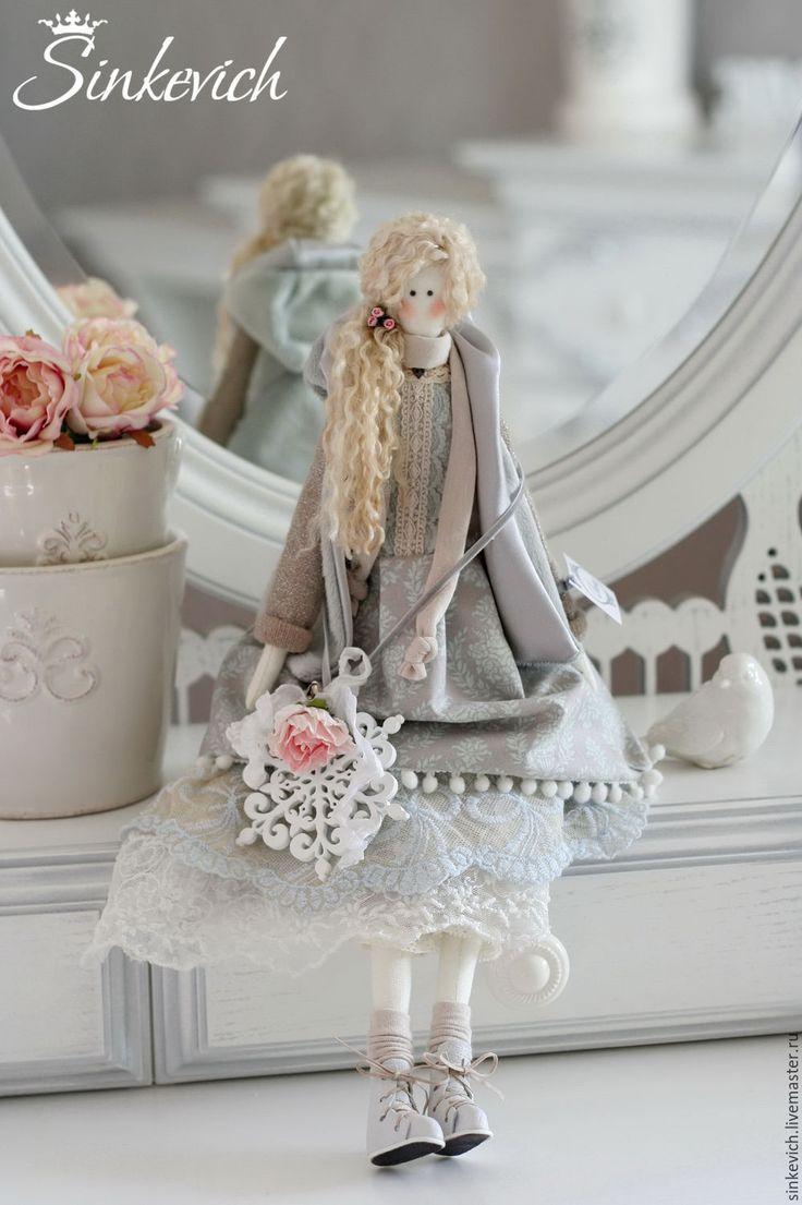 Купить Леона - тильда, кукла ручной работы, кукла интерьерная, кукла текстильная, кукла