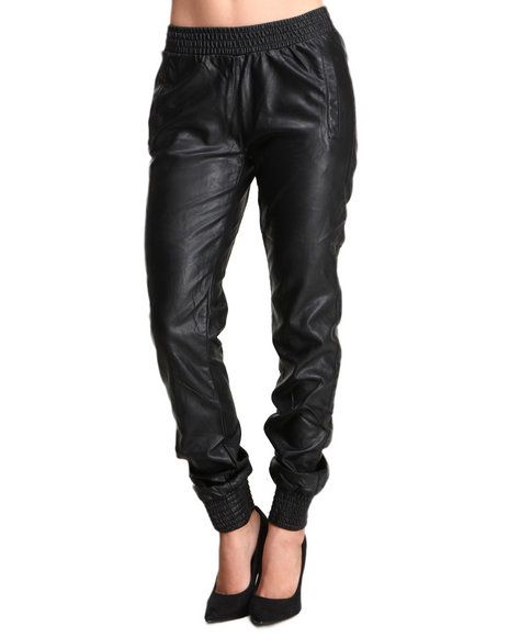 Um great looking and uber affordable leather track pants!  $79