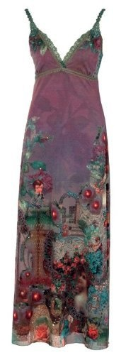 Floor-Length High-Waist Special Occasion Dress Created by Michal Negrin with Victorian Inspired Rich Motif, Hand-Dyed Lace Trim Edge, Swarovski Crystal Accents - Size M Michal Negrin,http://www.amazon.com/dp/B00867JB6I/ref=cm_sw_r_pi_dp_h7aDrb1922EC46BF