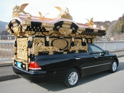 Photo of a house type hearse.