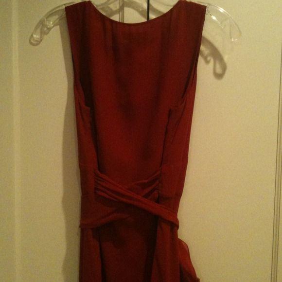 Ann Taylor Dresses - Red silk dress size 6