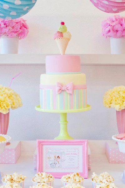 Partido de la torta de cumpleaños del helado - Ideas Cake Fabulous