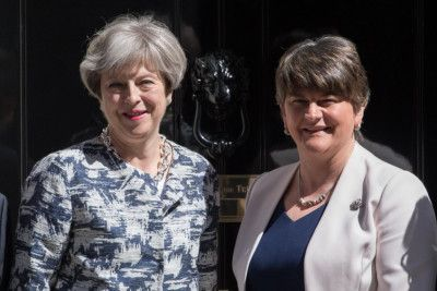 Theresa Mays government alliance with Arlene Foster and the DUP has already angered many (Photo by Carl Court/Getty Images)